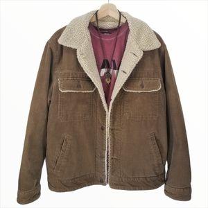 GAP Icon Corduroy Sherpa Jacket Brown Unisex